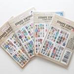 (4 แผ่น/ชุด) แสตมป์สติ๊กเกอร์ Europe Vintage Stamp Stickers (ใช้ตกแต่ง ไม่สามารถใช้แทนค่าฝากส่ง)