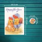 The Golden Egg (Happy New Year) โปสการ์ด*1 แถมสติ๊กเกอร์*1 / โปสการ์ดปีใหม่ / Happy New Year Postcard