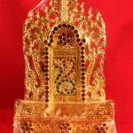 แท่นพระพม่าทรงสูง ฐานมีขอบ 8 นิ้ว รหัส0104 หมดแล้ว