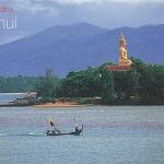 โปสการ์ด พระใหญ่ เกาะสมุย จังหวัดสุราษฎร์ธานี /ทะเล/ชายหาด/พระพุทธรูป