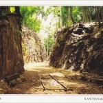 โปสการ์ด ช่องเขาขาด จังหวัดกาญจนบุรี /ช่องไฟนรก/ทางรถไฟ/ด้านหลังพิพิธภัณฑ์สถานแห่งความทรงจำ