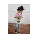 ชุดเซ็ทเสื้อลาย Daisy Duck + กางเกงสีเทา สวยเก๋ & น่ารักมากค่ะ ขนาด 130