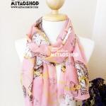 ผ้าพันคอ ชีฟอง สกรีนลาย Chiffon CF01-032