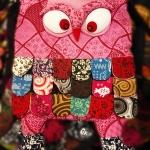กระเป๋านกฮูก สะพายข้าง ใบใหญ่ขนาด Owl Bag 28 x 40 cm. 3
