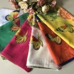 ผ้าพันคอ ชีฟอง สกรีนลาย Chiffon CF01-053