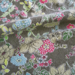 ผ้าญี่ปุ่น (ลายดอกไม้ พื้นเขียว)