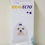 Bravecto น้ำหนัก 2 - 4.5 kg. (112.5 mg.) Chewable tablets Exp.08/18
