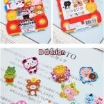 (70 ชิ้น/ชุด) สติ๊กเกอร์ Cute Animal Stickers in a Pocket (B Design)