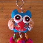 พวงกุญแจตุ๊กตานกฮูกพวงใหญ่ ขนาด 8 x 25 cm. 15