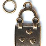 ABS หัวซิป กระเป๋าลายหัวใจ