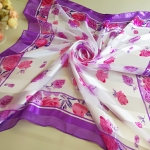 ผ้าพันคอ ผ้าคลุม ซาติน แก้ว บางๆ ST03-005