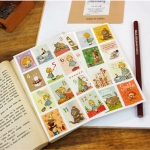 (2 แผ่น/ชุด) แสตมป์สติ๊กเกอร์ Alice in Wonderland Stamp Sticker (ใช้ตกแต่ง ไม่สามารถใช้แทนค่าฝากส่ง)
