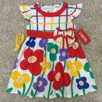 เสื้อผ้าเด็ก แรกเเกิด-9เดือน size 3m-6m-9m ลายดอกไม้ พื้นหลังสีขาว
