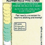 เข็มหมุดหัวแบนรูปดอกไม้