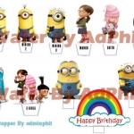 Wafer topper Minions 1