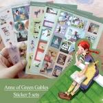 (5 แผ่น/ชุด) สติ๊กเกอร์ Anne of Green Gables