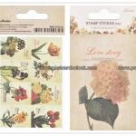 02STMTK-0001h (2 แผ่น/ชุด) แสตมป์สติ๊กเกอร์ Ancien Stamp Sticker ver.2 (H)