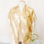 ผ้าพันคอ ผ้าซาติน แก้ว บางๆ ST1102B