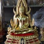 พระพุทธชินราชขนาดหน้าตัก 5.9 นิ้ว เนื้อทองเหลือง ลงรักปิดทองแท้ พิมพ์ใหญ่ ฐาน2ชั้น ปิดทอง พระพุทธชินราช เป็นยอดพระพุทธรูปศักดิ์สิทธิ์ รหัส 188
