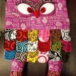 กระเป๋านกฮูก สะพายเป้ ใบใหญ่ขนาด Owl Bag 28 x 40 cm. 1