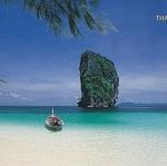 โปสการ์ด หมู่เกาะปอดะ อ่าวพระนาง จังหวัดกระบี่ /ทะเล/ชายหาด/เกาะ