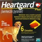 Heartgard Plus 6 เม็ด สำหรับ นน.สุนัข 22-45 กิโลกรัม Exp.10/19