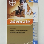 Advocate สำหรับสุนัข 25 kg.- 40 kg. Exp.07/19