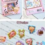 (70 ชิ้น/ชุด) สติ๊กเกอร์ Cute Animal Stickers in a Pocket (C Design)
