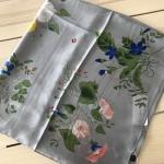 ผ้าพันคอ ผ้าคลุม ไหมญี่ปุ่น สกรีนลาย SJ01-022