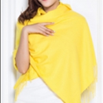 ผ้าพันคอ Butter Yellow Cashmere แคชเมียร์ สี เหลือง CM01004