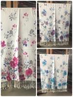 ผ้าพันคอ Pashmina พาสมีน่า ลายดอกไม้ PS04-003
