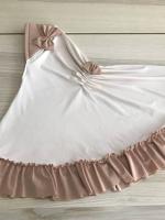 ผ้าคลุมเด็ก เนื้อผ้ายืด ระบายชาย แต่งโบว์ สม๊อคหลัง HB02-021