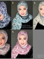 ผ้าคลุม อิสลาม ผ้าอาหรับ แบบ มีลาย R13004