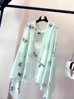 ผ้าพันคอ ผ้าคลุม ไหมญี่ปุ่น สกรีนลาย SJ01-008