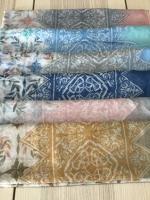 ผ้าคลุม อิสลาม วิสคอส viscose พิมพ์ลาย HJ07016