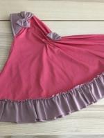 ผ้าคลุมเด็ก เนื้อผ้ายืด ระบายชาย แต่งโบว์ สม๊อคหลัง HB02-002