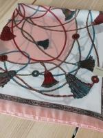 ผ้าพันคอ ผ้าคลุม ซาติน 70*70 ST05-007