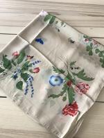 ผ้าพันคอ ผ้าคลุม ไหมญี่ปุ่น สกรีนลาย SJ01-021