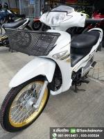 WAVE125i ปี50 สีขาวสวย ล้อทองสุดเท่ เครื่องดี พร้อมใช้งาน ราคา 29,000