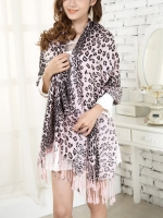 ผ้าพันคอ Pashmina พาสมีน่า ลายเสือดาว PM00103-1