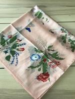ผ้าพันคอ ผ้าคลุม ไหมญี่ปุ่น สกรีนลาย SJ01-024