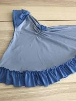 ผ้าคลุมเด็ก เนื้อผ้ายืด ระบายชาย แต่งโบว์ สม๊อคหลัง HB02-0015