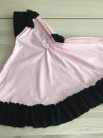 ผ้าคลุมเด็ก เนื้อผ้ายืด ระบายชาย แต่งโบว์ สม๊อคหลัง HB02-0018
