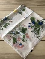 ผ้าพันคอ ผ้าคลุม ไหมญี่ปุ่น สกรีนลาย SJ01-023