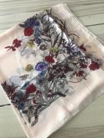 ผ้าพันคอ ผ้าคลุม ไหมญี่ปุ่น สกรีนลาย SJ01-020
