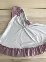 ผ้าคลุมเด็ก เนื้อผ้ายืด ระบายชาย แต่งโบว์ สม๊อคหลัง HB02-0016