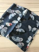 ผ้าพันคอ ผ้าคลุม ไหมญี่ปุ่น สกรีนลาย SJ01-017