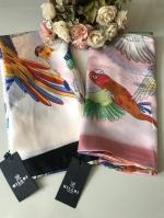ผ้าพันคอ ผ้าคลุม ไหมญี่ปุ่น สกรีนลาย SJ01-019