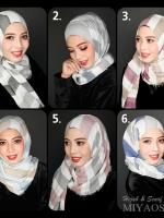 ผ้าคลุม อิสลาม ผ้าอาหรับ แบบ มีลาย R13002