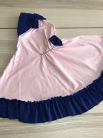 ผ้าคลุมเด็ก เนื้อผ้ายืด ระบายชาย แต่งโบว์ สม๊อคหลัง HB02-020
